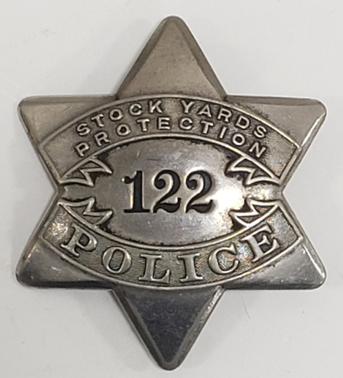 Early Chicago Stock Yards Police Pie Plate Badge