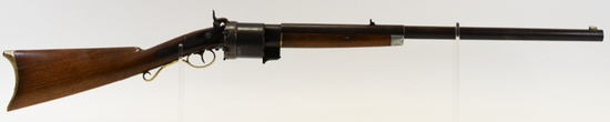 Percussion Billinghurst Revolving Cylinder Rifle