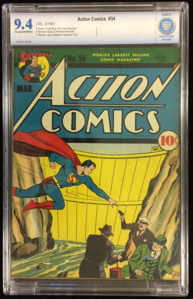 Action Comics #34 Graded 9.4