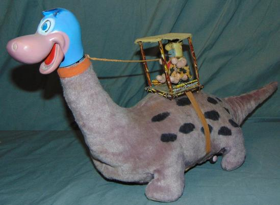 Fred Flintstone on Dino. Battery Operated Toy