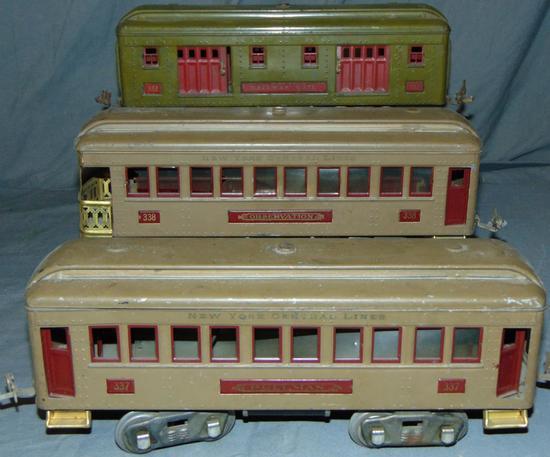 3 Lionel ST GA Passenger Cars