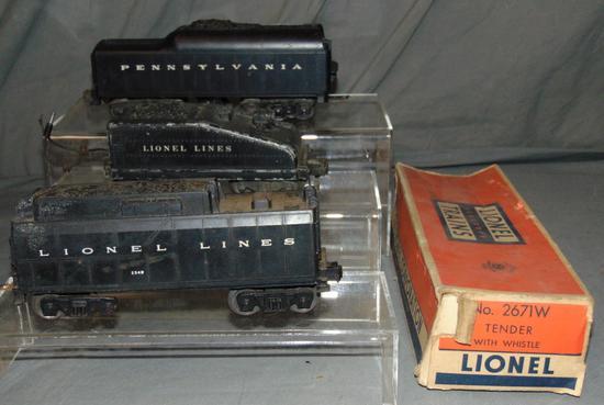 3 Lionel Tenders