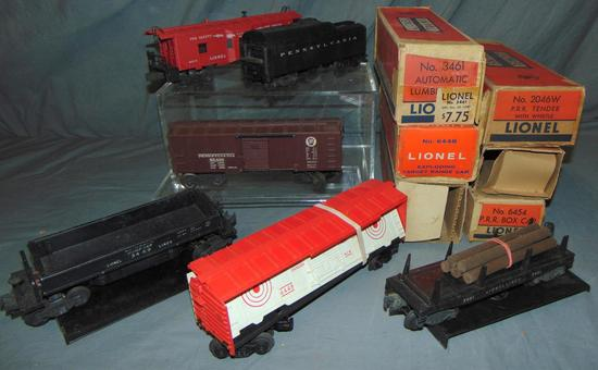 6 Boxed Lionel Freight Cars