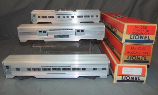 3 Boxed Lionel Passenger Cars