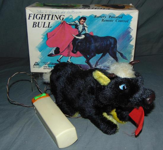 Battery Operated Fighting Bull in Box.