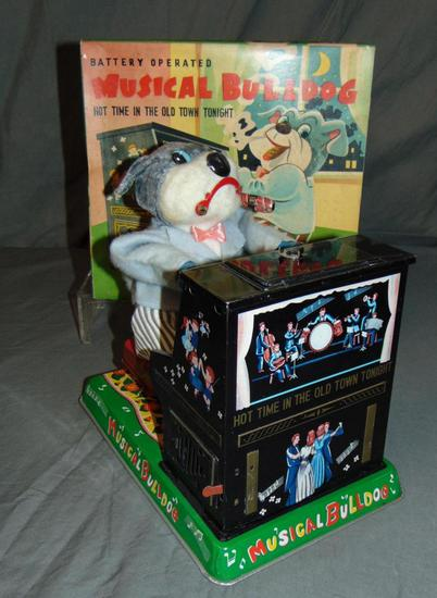 Boxed Battery Operated Musical Bulldog.