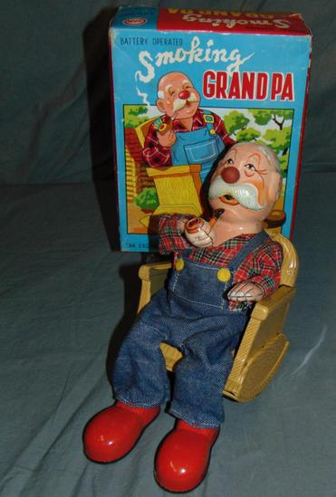 Boxed Battery Operated Smoking Grandpa