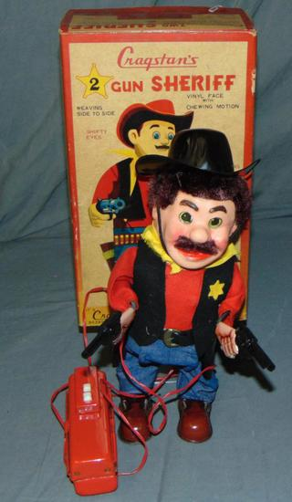 Boxed Battery Operated Cragstan 2 Gun Sheriff