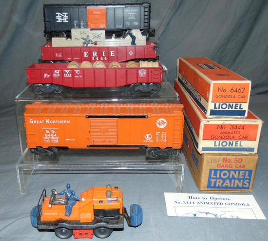 5 Lionel Freight Cars, 3 Boxed