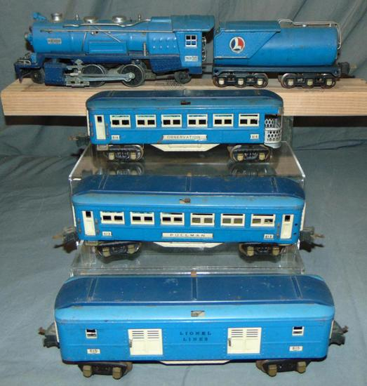 Early Lionel 263E Blue Comet Set
