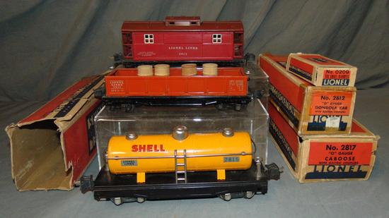 Lionel 2812, 2815 & 2817 Freight Cars