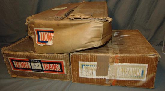3 EMPTY Lionel 238E Set Boxes, Plus