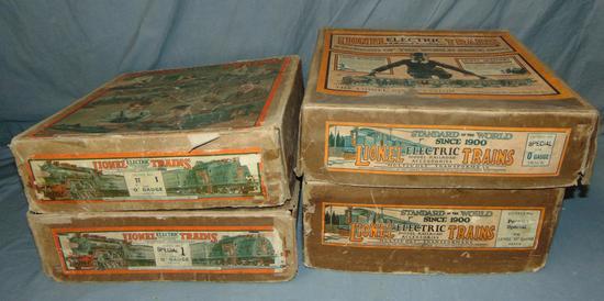 3 Unusual EMPTY Lionel Uncataloged Set Boxes