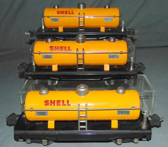 3 Clean Lionel 2815 Shell Tank Cars