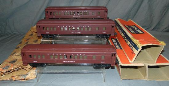 3 Boxed Lionel 2623 Irvington Heavyweights