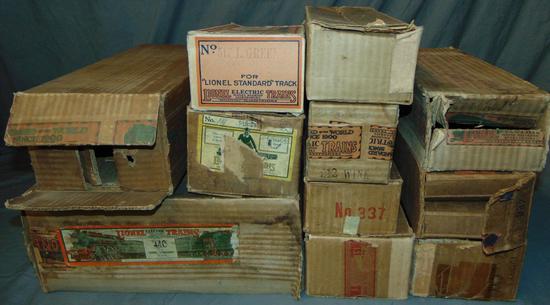 12 EMPTY Lionel Standard Gauge Boxes