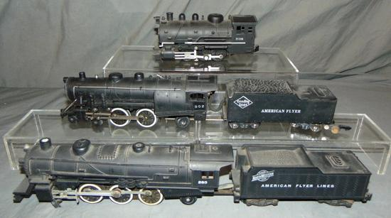 3 American Flyer S Ga Steam Locos