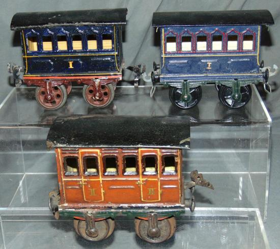 3 Early Marklin Ga 1 Passenger Cars