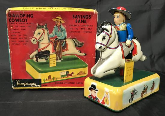 Battery Operated Galloping Savings Bank.