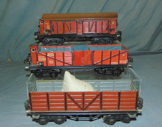 3 Marklin O Gauge Freight Cars
