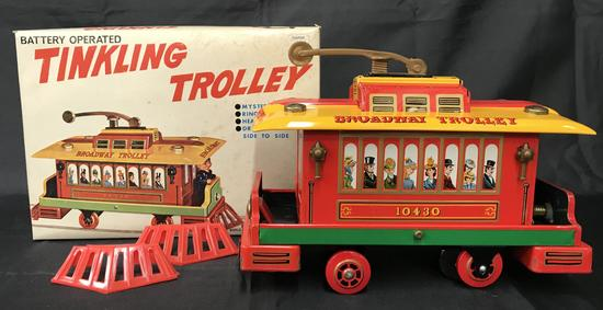 Battery Operated Tinkling Trolley Boxed.