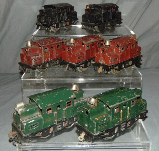 7 Early Lionel Electric Locomotives