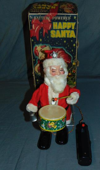 Boxed Battery Operated R/C Happy Santa