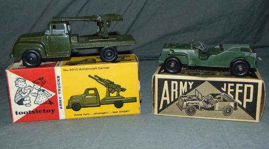 2 Boxed TootsieToy Military Vehicles