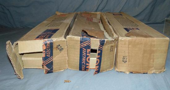 3 EMPTY Lionel Blue Comet Car Boxes