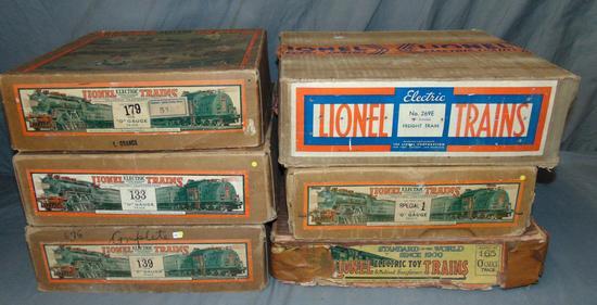 6 EMPTY Lionel Set Boxes