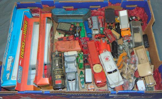 Tray Lot Toy Vehicles