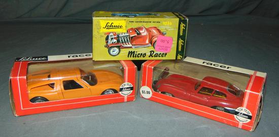 3 Boxed Schuco Racers