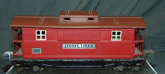 Scarce Late Lionel 2817 Plated Caboose