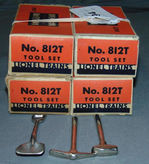4 Boxed Lionel 812T Tool Sets
