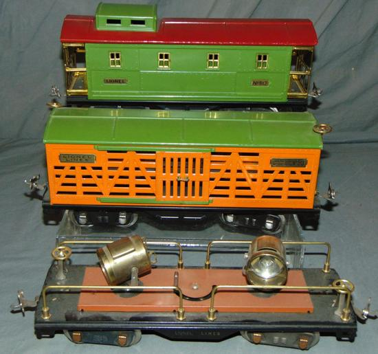 3 Clean Lionel 500 Series Freight Cars