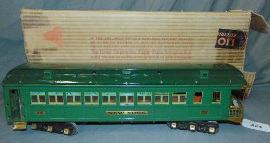 Boxed Lionel 416 New York State Car