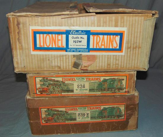 3 Lionel EMPTY Set Boxes