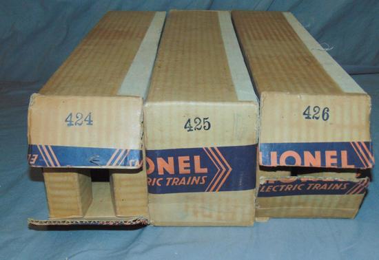 Nice EMPTY Lionel Boxes, 424, 425, 426