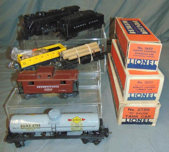 Clean Late Lionel 225 Steam Freight Set