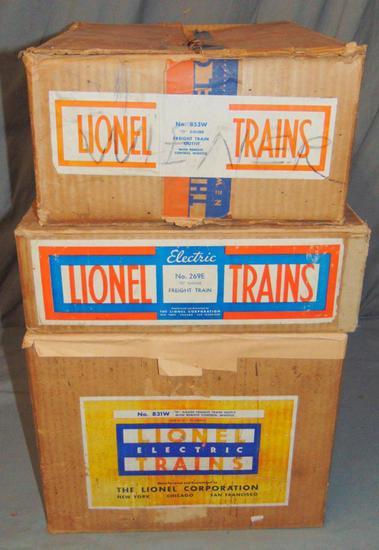 3 EMPTY Lionel Set Boxes