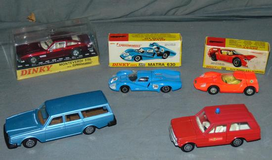 6 Later Dinky Toys, 3 Boxed