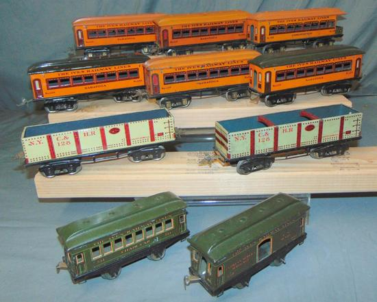 10 Ives Freight Cars