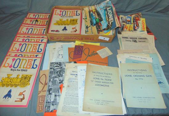 Large Lot Lionel Catalogs & Instructions