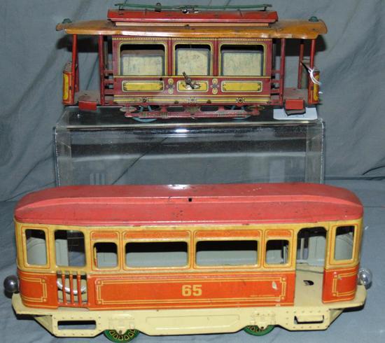 2 Orber Tin Trolleys