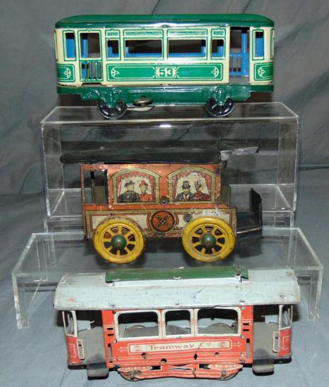 3 Tin Trolleys