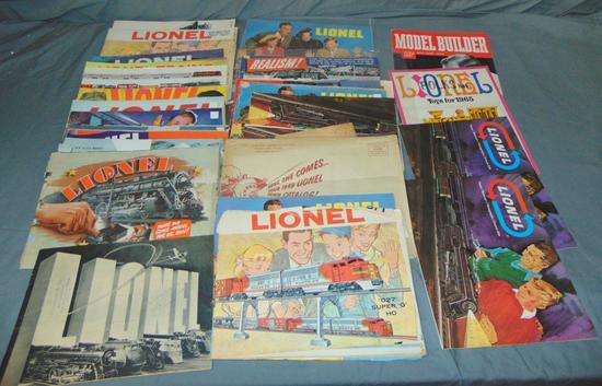 Large Lot Lionel Catalogs