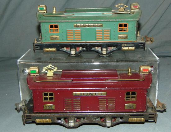 2 Lionel 253 Boxcab Electric Locos, 1 Scarce