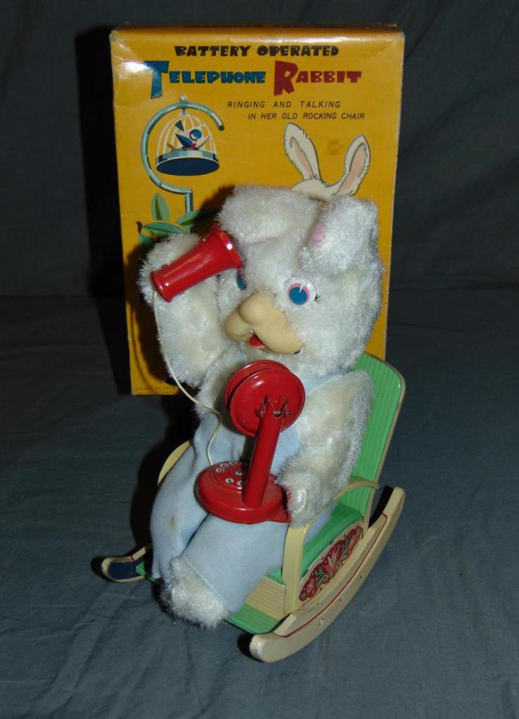 Battery Operated Telephone Rabbit.