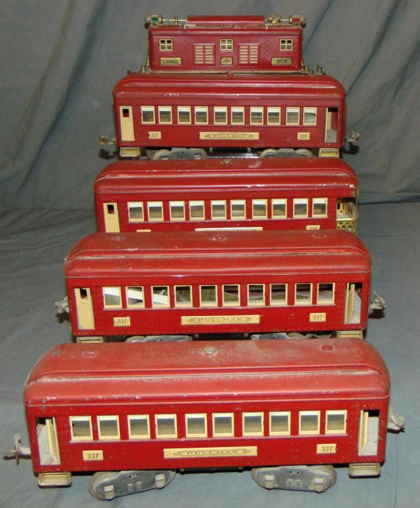 5Pc Lionel 8E Passenger Set
