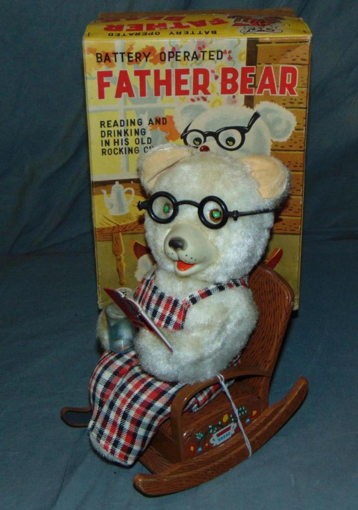 Battery Operated Father Bear in Box.